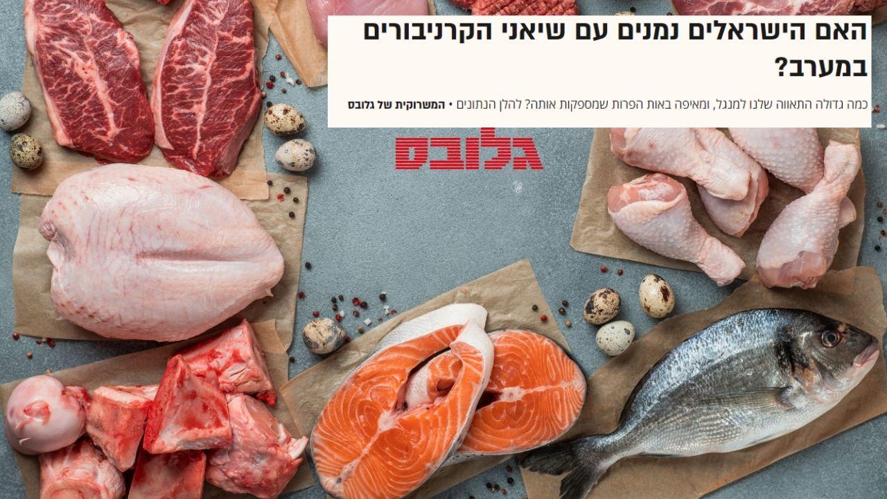 גלובס: איך נראית צריכת הבשר בישראל? בקר, כבש וחזיר | קיבוץ להב